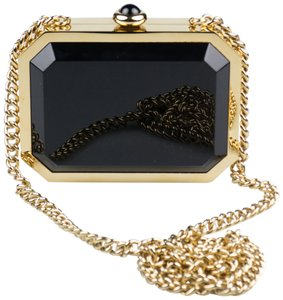 Chanel Blackandgold Miniaudiere Shoulder Bag