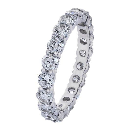 Avital & Co Jewelry 14k White Gold 2.10 Carat Round Cut Diamond Eternity Ring Women's Wedding Band