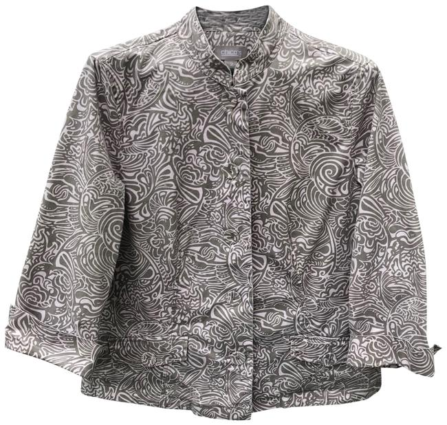 Item - Taupe Whire Lightweight Jacket Size 12 (L)
