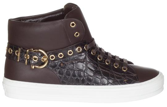 Preload https://img-static.tradesy.com/item/23880392/salvatore-ferragamo-brown-women-s-pixy-black-and-white-leather-high-top-sneakers-sneakers-size-us-95-0-0-540-540.jpg
