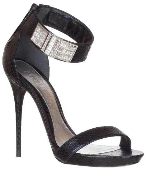 Preload https://img-static.tradesy.com/item/23880526/alexander-mcqueen-black-women-s-python-snakeskin-ankle-strap-crystal-heels-sandals-size-us-8-regular-0-0-540-540.jpg