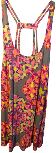 Item - Multi- Grey/Pinks/Yellow Harmony Tank Activewear Top Size 8 (M)