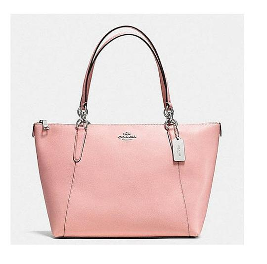 Preload https://img-static.tradesy.com/item/23880609/coach-ava-in-crossgrain-shoulder-35808-57526-pink-leather-tote-0-0-540-540.jpg