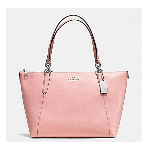 Preload https://img-static.tradesy.com/item/23880641/coach-ava-in-crossgrain-shoulder-35808-57526-pink-leather-tote-0-0-540-540.jpg