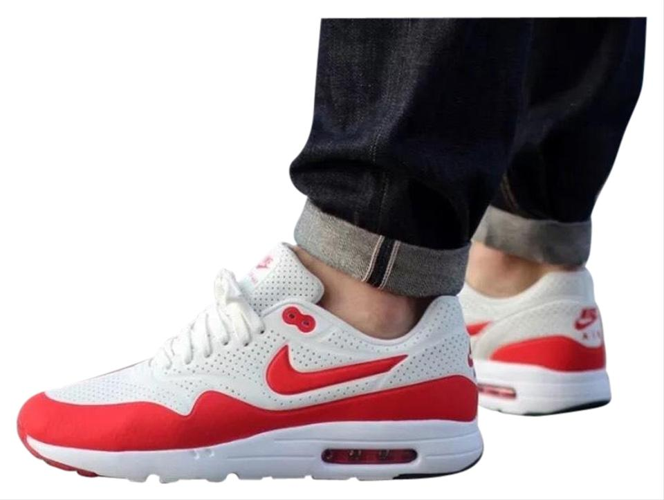 Nike Women's Air Max 1 Ultra Moire Red Running A Max Air Unit In The Sole Offers A Cushy Feel Underfoot. Sneakers Size US 7 Narrow (Aa, N) 35% off