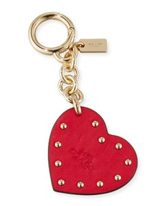 Coach Coach Studded Heart Bag Charm