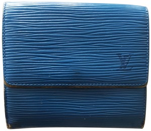 Louis Vuitton LOUIS VUITTON LV LOGO EPI LEATHER TRI FOLD WALLET