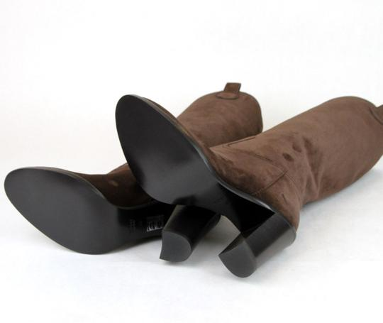 Gucci Leathersuede Tall Knee Brown Suede/2012 Boots