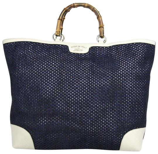 Preload https://img-static.tradesy.com/item/23880885/gucci-new-top-handle-bamboo-large-338964-4271-blue-straw-leather-tote-0-1-540-540.jpg