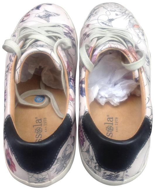 Item - White Floral Claire Leather Sneakers Size US 7 Regular (M, B)