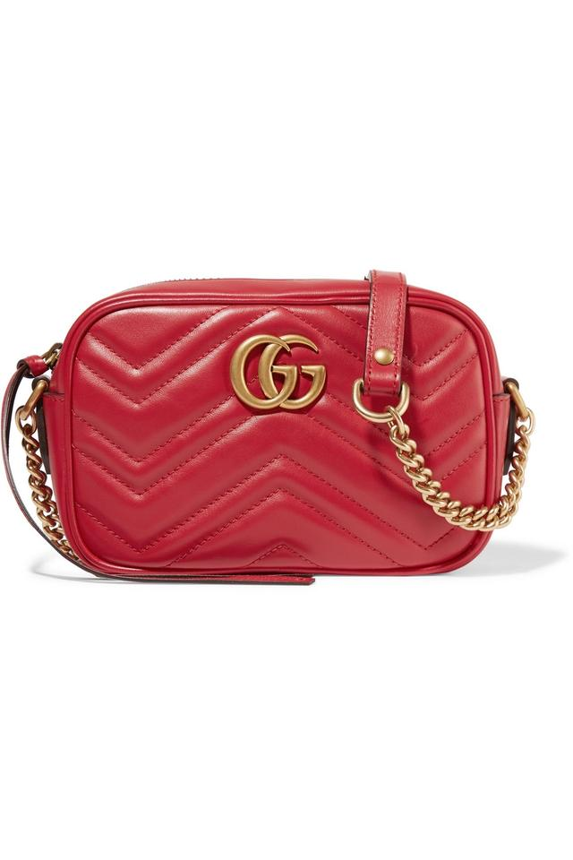 80468340a5df Gucci Shoulder Marmont Gg Camera Mini Quilted Red Leather Cross Body ...