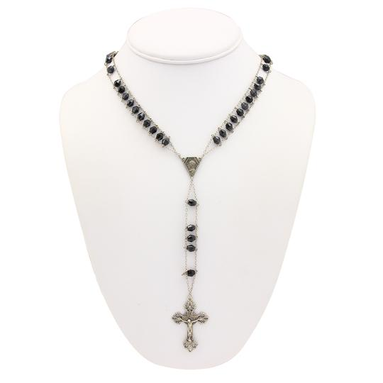 Preload https://img-static.tradesy.com/item/23881064/17478-beaded-rosary-onyx-and-800-sterling-necklace-0-3-540-540.jpg