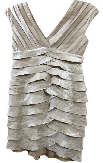 Preload https://item3.tradesy.com/images/adrianna-papell-oyster-silver-rayon-blend-satin-tiered-v-neck-metallic-sheath-formal-modern-bridesma-23881117-0-0.jpg?width=440&height=440