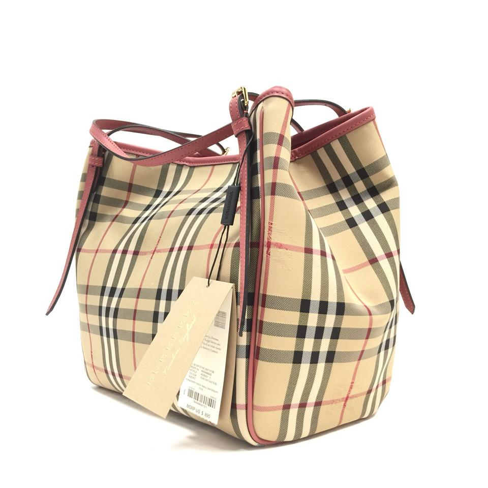 534b05cd0f72 Burberry London Small Canter  Horseferry Check   Leather Purse Honey ...