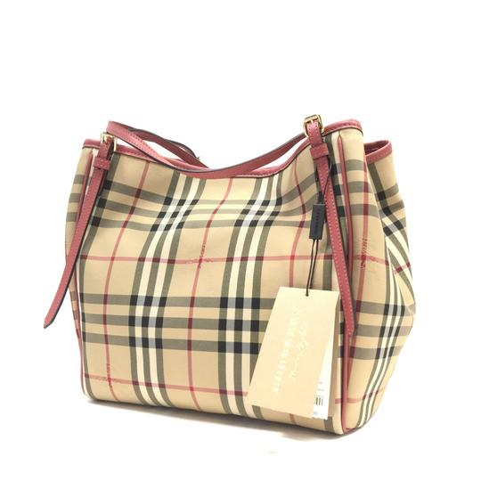 Burberry London Tote in Honey / Antique Rose