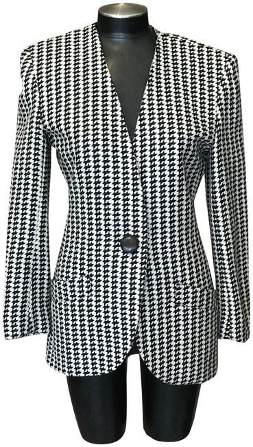 Item - Black and White Vintage Skirt Suit Size 2 (XS)