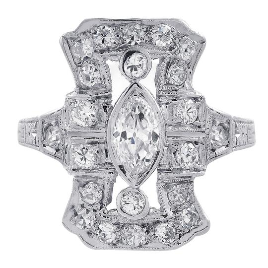 Preload https://img-static.tradesy.com/item/23881254/avital-and-co-jewelry-white-gold-072-carat-diamond-vintage-ladies-platinum-ring-0-0-540-540.jpg