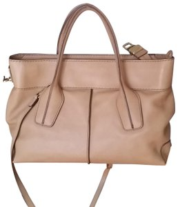 Tod's Classic Leather Versatile Satchel in camel