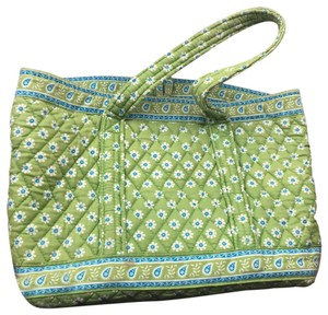 Vera Bradley Retired Pattern Green Small Tote in Citrus ff190ed432026