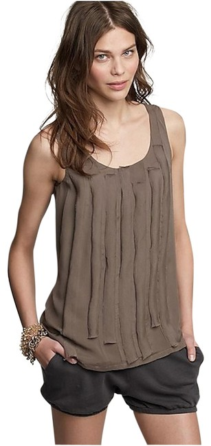 Item - Taupe Flutter Fold Sleeveless Shell Tank Top/Cami Size 2 (XS)