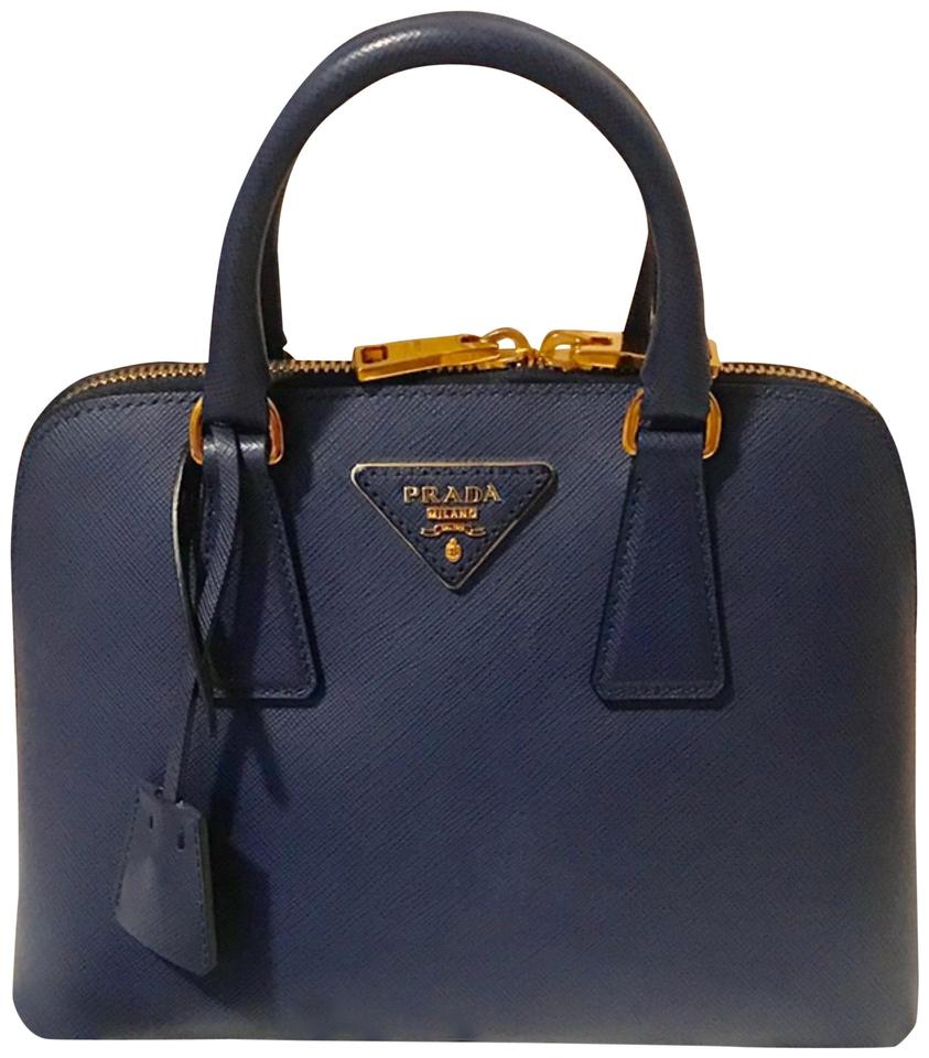 92e5a3ebd53e Prada Lux Bl0838 Blue Saffiano Cross Body Bag - Tradesy