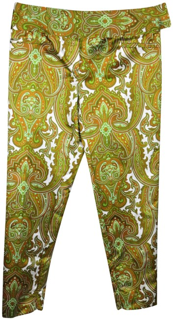 Item - Multicolor Green Gold Paisley Print Pants Size 6 (S, 28)