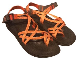 Chaco orange and yellow Sandals