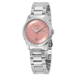 Gucci Diamond Pattern G-timeless Dial Stainless Steel Ladies Watch