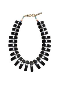 Lizzie Fortunato Lizzie Fortunato BLACK TILE Collar Necklace Lapis Turquoise detail