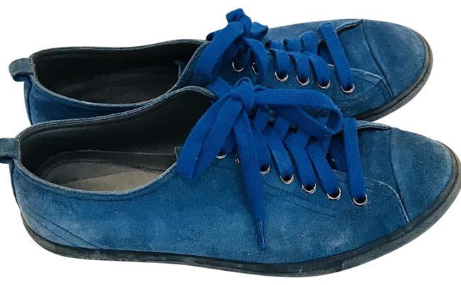 Item - Blue Men Suede Sneakers Size US 7 Regular (M, B)