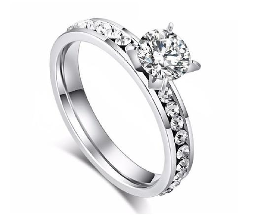 Preload https://img-static.tradesy.com/item/23882686/white-200-ctw-sparkling-row-solitaire-cubic-zirconia-rhodium-plated-ring-0-0-540-540.jpg