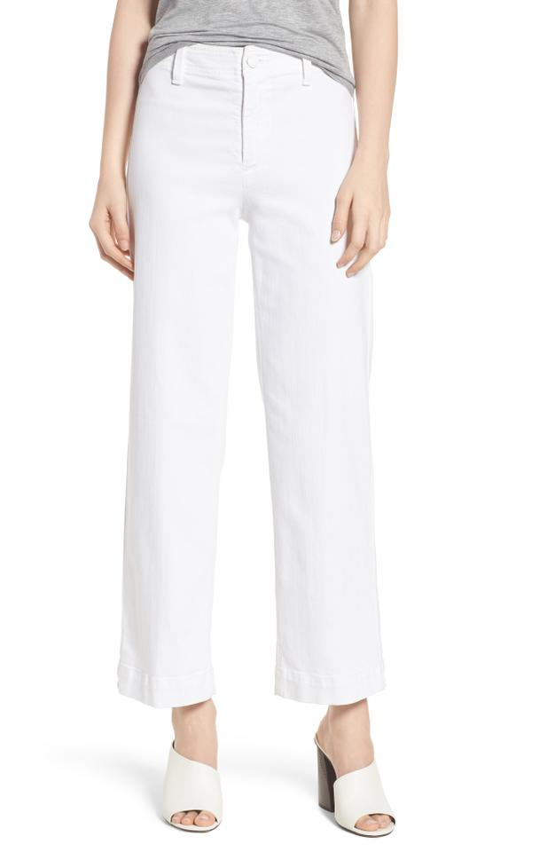 515d6606304e3 Mother White Distressed Mothr20672 Trouser Wide Leg Jeans Size 26 (2 ...