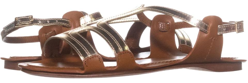 Furla Brown And Gold Gladiator Stappy Gladiator Gold Sandals d25e8e
