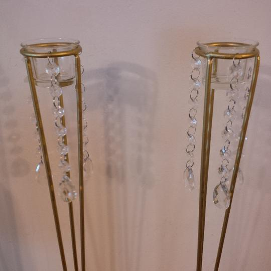 Gold 2 ~ Tall Tea Light Holders Ceremony Decoration