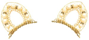 Erickson Beamon Stratosphere Glass Pearls Cat Ears Combs