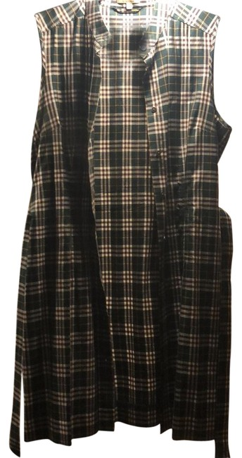Item - Green Checkered Logo Butter Tunic Size 12 (L)