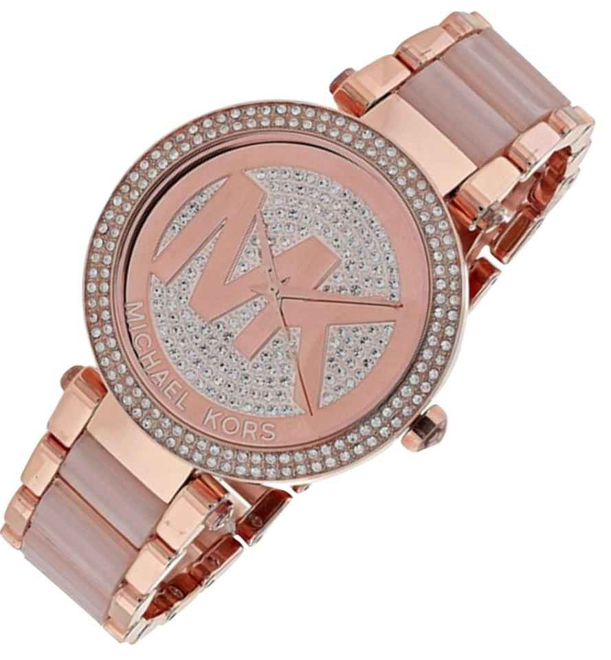 4037badd3733 Michael Kors New Michael Kors Parker Rose Gold-Tone Ladies Watch MK6176  Image 0 ...