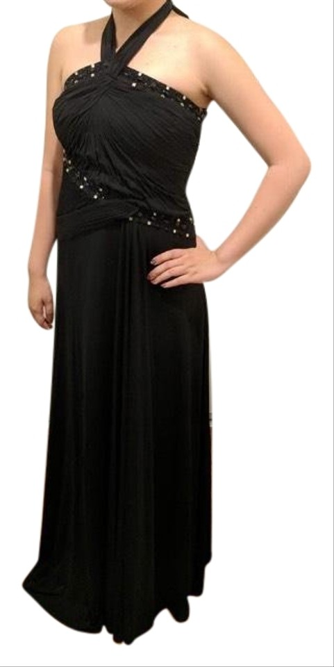 d7df076fb6a Black Elegant Maxi In Long Formal Dress Size 8 (M) 68% off retail