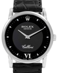 Rolex Rolex Cellini Classic White Gold Black Dial Watch 5116 Card