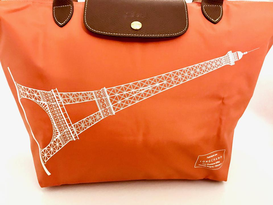 Large Orange Tote Special Nylon Le Edition Tower Eiffel Longchamp Pliage New qpwTF8x0
