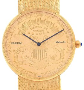 Corum Corum 20 Dollars Double Eagle Yellow Gold Coin Year 1895 Automatic