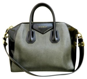 Givenchy Calfskin Black Antigona Grey Satchel in black&grey