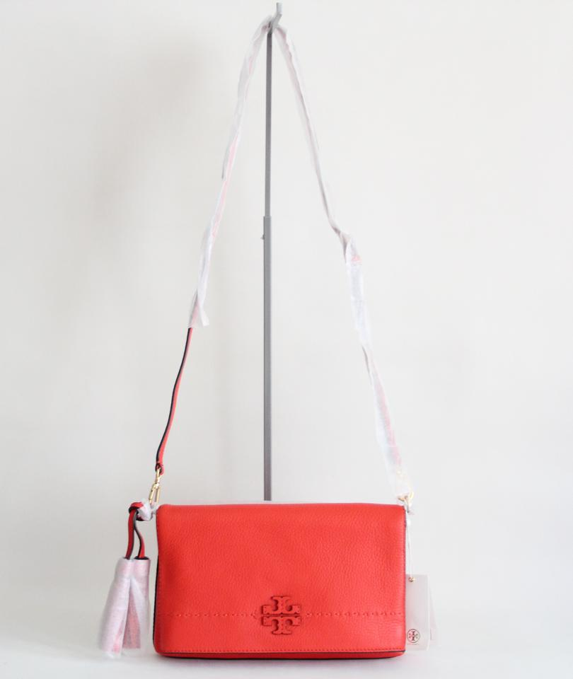 Fold Burch Cross Tory Leather Red Bag Body Mcgraw 1RExZ4