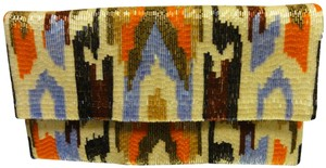 Moyna Beaded Color Ikat Multi Clutch