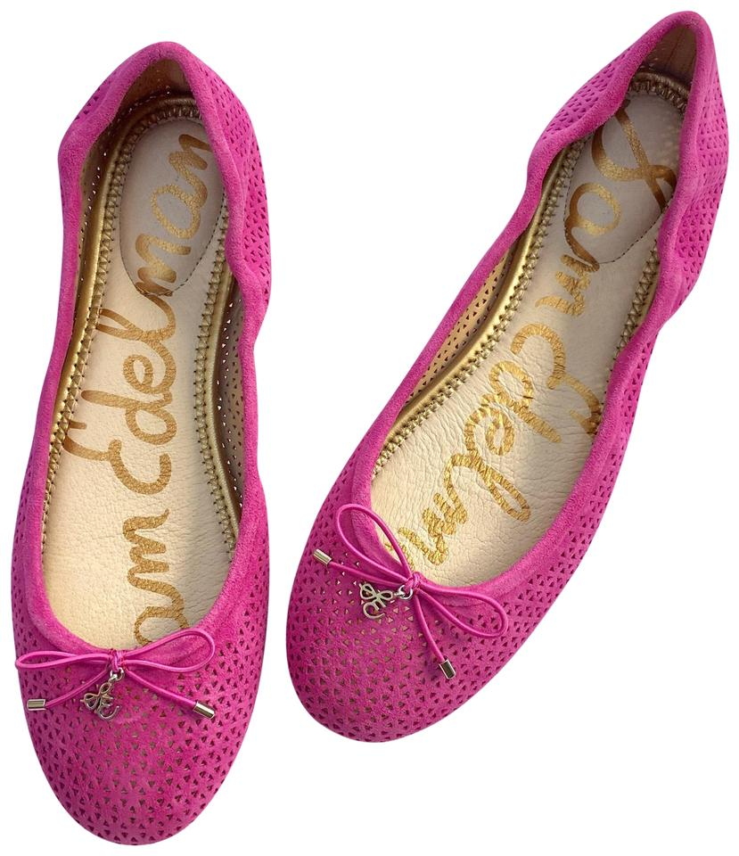 da8301a9a02fc Sam Edelman Pink Felicia Perforated Ballet Flats Size US 8 Regular ...