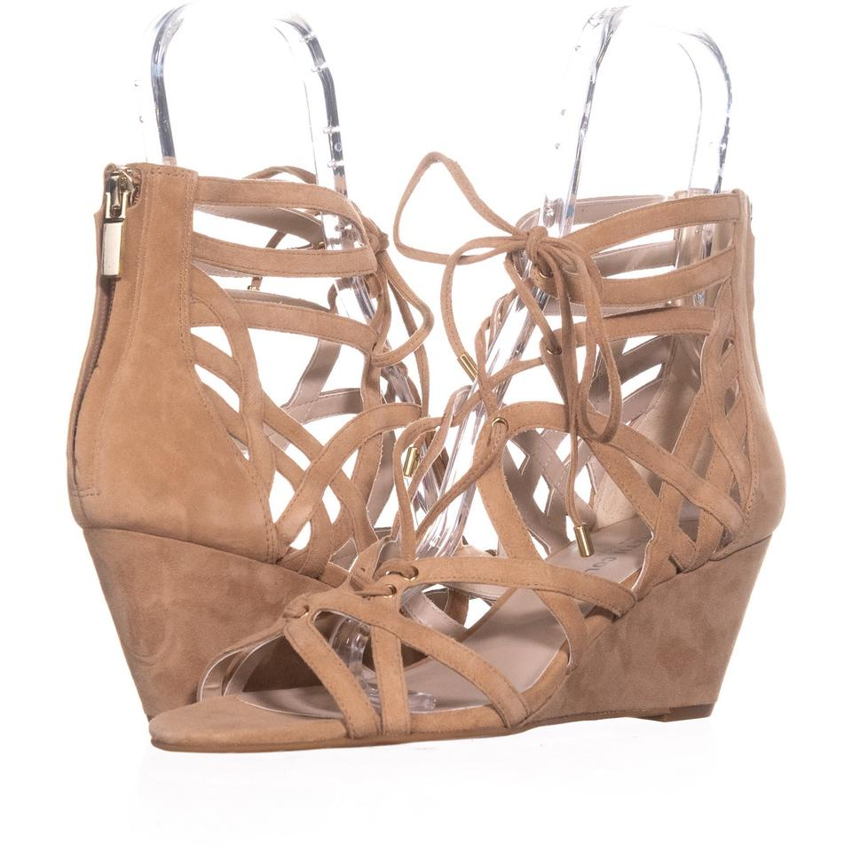 Kenneth Cole Strappy Brown New York Dylan Strappy Cole Sandals 070 Buff Wedges 7bdea1