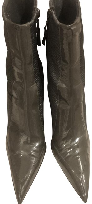 Item - Grey Patent Kitten Ankle Boots/Booties Size US 6 Regular (M, B)