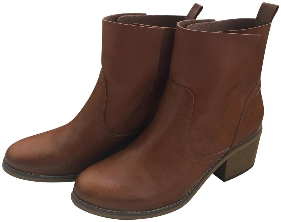 Mossimo Supply Co. Chestnut Leather Brown Leather Chestnut Boots/Booties 518987