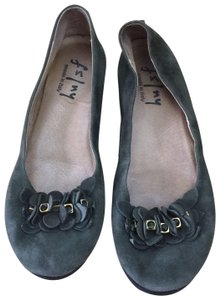 French Sole Green Flats