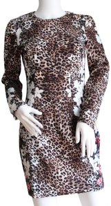 Black Halo short dress Leopard Print Multi Floral on Tradesy